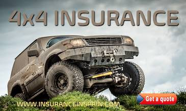 offroad and 4 x 4 vehicle insurance in Spain