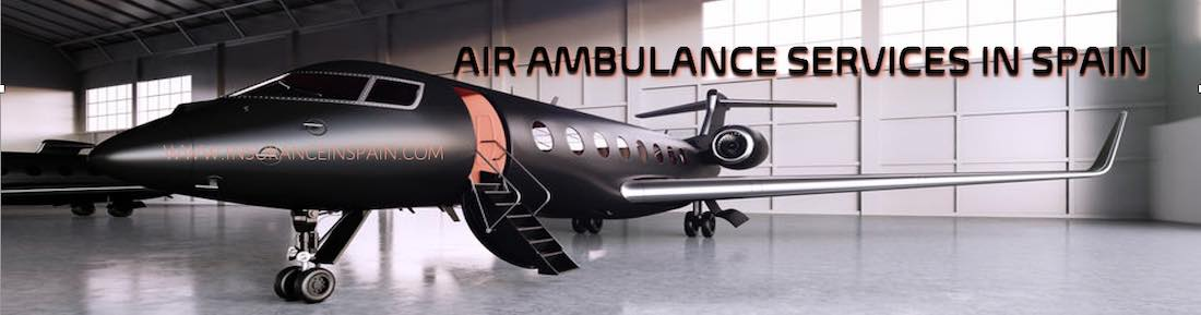 Air ambulance services in Spain provided by Health insurance companies.