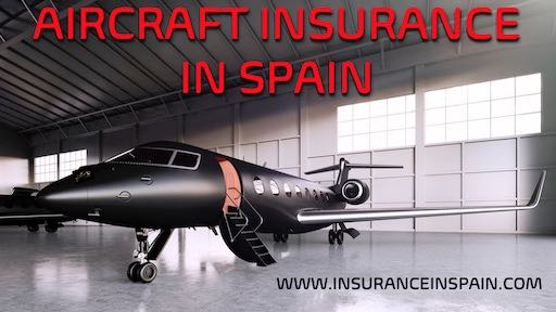 black lear jet in a hanger ready for takeoff advertising Aircraft insurance in Spain