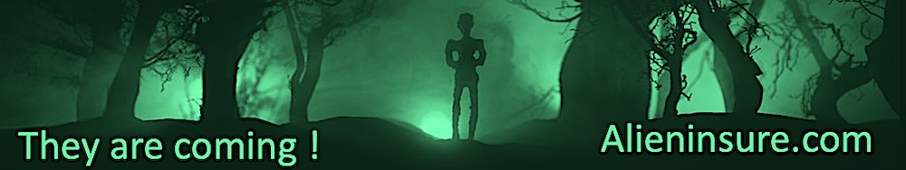 Alien abduction insurance from aliens in a forest that have landed on earth