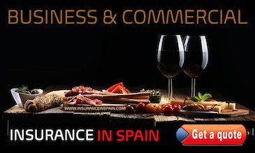 A lovely plate of tapas and two glasses of red wine on a wooden platter offering Business and commercial insurance in Spain