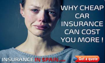woman distressed and crying showing how cheap car insurance in spain can cost you dearly