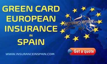 European flag promoting green card insurance in Europe