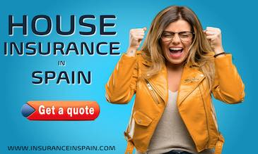 A woman happy with joy at finding a great house insurance quote from www.insuranceinspain.com
