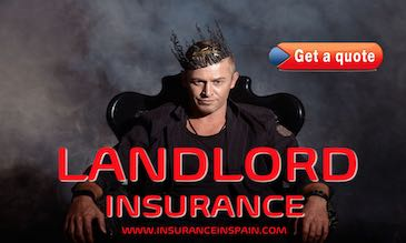 Man on throne acting as promotion for landlords insurance in Spain