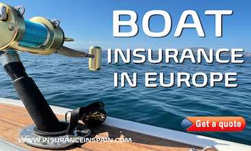 fishing boat on the sea with close up of fishing rod depicting marine and boat insurance in Spain