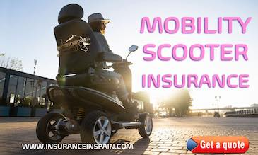 Woman on a mobility scooter in the sun promoting mobility scooter insurance with www.insuranceinspain.com