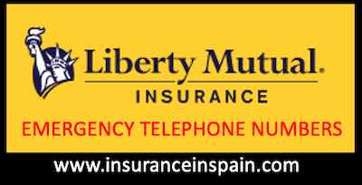 Emergency telephone numbers for Liberty Seguros Insurance in Spain and Europe